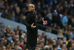 Josep Guardiola manager of Manchester City during the Premier League match at the Etihad Stadium, Manchester. Picture date: November 5th, 2016. Pic Simon Bellis/Sportimage