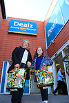24/9/15 Bray Co Wicklow.<br /> Hilary and Melony Salmon at the open of the new Dealz store in Bray Co Wicklow.<br /> Picture Fran Caffrey /Newsfile/Professional Images