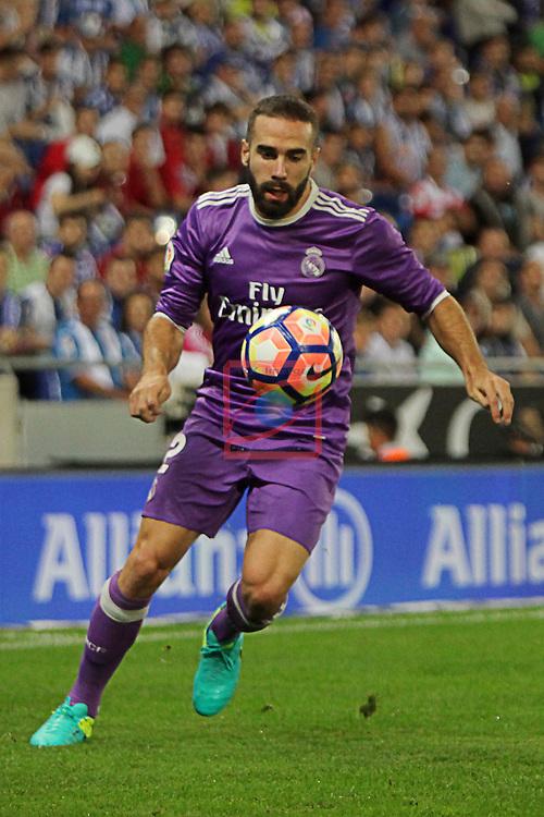 League Santander 2016/2017. Game: 4.<br /> RCD Espanyol vs R. Madrid: 0-2.<br /> Daniel Carvajal.