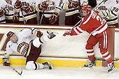 Philip Samuelsson (BC - 5), Charlie Coyle (BU - 3) - The Boston College Eagles defeated the visiting Boston University Terriers 5-2 on Saturday, December 4, 2010, at Conte Forum in Chestnut Hill, Massachusetts.