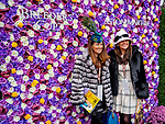 November 2, 2018: Two women pose in front of the Aston Martin flower wall on Breeders' Cup World Championship Friday at Churchill Downs on November 2, 2018 in Louisville, Kentucky. Scott Serio/Eclipse Sportswire/CSM