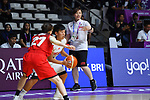 Natsumi Yabuuchi (JPN), <br /> AUGUST 15, 2018 - Basketball : Women's Qualification round match between Hong Kong 44-121 Japan at Gelora Bung Karno Basket Hall A during the 2018 Jakarta Palembang Asian Games in Jakarta, Indonesia. <br /> (Photo by MATSUO.K/AFLO SPORT)