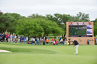 Ken Duke (USA) watches his putt on 16 during round 3 of the Valero Texas Open, AT&amp;T Oaks Course, TPC San Antonio, San Antonio, Texas, USA. 4/22/2017.<br /> Picture: Golffile | Ken Murray<br /> <br /> <br /> All photo usage must carry mandatory copyright credit (&copy; Golffile | Ken Murray)