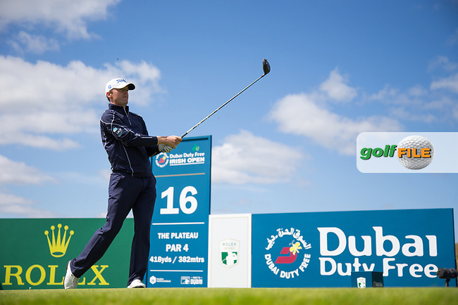 Michael Hoey (NIR) on the 16th during the 3rd round at the Dubai Duty Free Irish Open hosted by the Rory Foundation, at Portstewart Golf Club, Portstewart, Co. Derry, Northern Ireland. 08/07/2017<br /> Picture: Golffile | Fran Caffrey<br /> <br /> <br /> All photo usage must carry mandatory copyright credit (&copy; Golffile | Fran Caffrey)