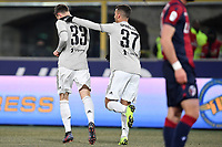 Federico Bernardeschi of Juventus celebrates after scoring a goal during the Italy Cup 2018/2019 football match between Bologna and Juventus at stadio Renato Dall'Ara, Bologna, January 12, 2019 <br />  Foto Andrea Staccioli / Insidefoto