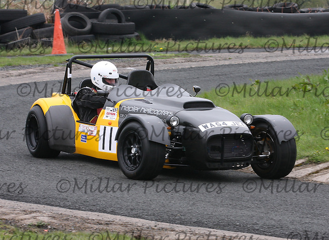 Charlie Fleming driving his Westfield NBR Megabusa in the Machars Car Club organised Kames Sprint, a round of the 2013 Guyson Scottish Sprint, 2013 Guyson Scottish Speed, 2013 MJ Engineering Speed and the 2013 Service Hydraulics Speed Championships held at the Kames Motorsport Complex, Muirkirk on 19.5.13.