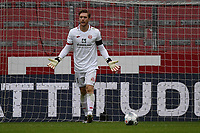 24th May 2020, Opel Arena, Mainz, Rhineland-Palatinate, Germany; Bundesliga football; Mainz 05 versus RB Leipzig; Goalie Florian Mueller (FSV Mainz 05) gestures to his defense as they let in another goal