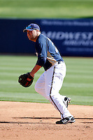 Brad Nelson - Milwaukee Brewers 2009 spring training.Photo by:  Bill Mitchell/Four Seam Images