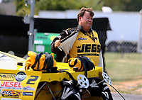 Sep 4, 2017; Clermont, IN, USA; NHRA pro mod driver Troy Coughlin Sr during the US Nationals at Lucas Oil Raceway. Mandatory Credit: Mark J. Rebilas-USA TODAY Sports
