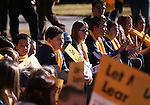 Several hundred supporters attend a &quot;Nevada Supports School Choice&quot; rally in support of educational choices on the Capitol grounds in Carson City, Nev., on Wednesday, Jan. 28, 2015.<br /> Photo by Cathleen Allison