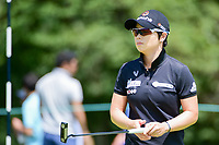 Eun-Hee Ji (KOR) after sinking her putt on 1 during Sunday's final round of the 72nd U.S. Women's Open Championship, at Trump National Golf Club, Bedminster, New Jersey. 7/16/2017.<br /> Picture: Golffile | Ken Murray<br /> <br /> <br /> All photo usage must carry mandatory copyright credit (&copy; Golffile | Ken Murray)