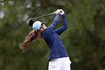CHAPEL HILL, NC - OCTOBER 15: North Carolina's Mariana Ocano on the 9th tee. The third and final round of the Ruth's Chris Tar Heel Invitational Women's Golf Tournament was held on October 15, 2017, at the UNC Finley Golf Course in Chapel Hill, NC.