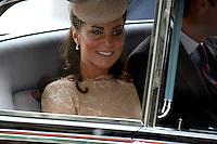 LONDRES, INGLATERRA, 05 DE JUNHO 2012 - JUBILEU DE DIAMANTE DA RAINHA ELIZABETH - A princesa Catherine Kate Middeleton chega a Catedral de Sao Paulo durante o Jubileu de Diamante da Rainha Elizabeth em Londres capital do Reino Unido, nesta terça-feira, 05. (FOTO: BILLY CHAPPEL / ALFAQUI / BRAZIL PHOTO PRESS)