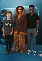 HOLLYWOOD, CA - August 6: Garcelle Beauvais, Jax Joseph Nilon, Guest, at Warner Bros. Pictures And Gravity Pictures' Premiere Of &quot;The Meg&quot; at TCL Chinese Theatre IMAX in Hollywood, California on August 6, 2018. <br /> CAP/MPI/FS<br /> &copy;FS/MPI/Capital Pictures
