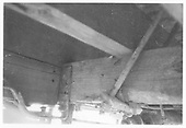 Underbody detail of D&amp;RGW high-side gondola.<br /> D&amp;RGW    ca 1972