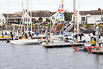 Race to Alaska, human powered, wind powered, all class, boat race, Port Townsend to Ketchikan, <br /> racers prepare at dock, Port Hudson, Port Townsend, Washington State, for Ketchikan, Alaska, long distance racing,