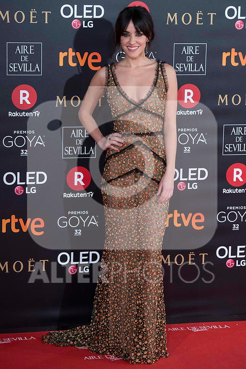 Macarena Garcia attends red carpet of Goya Cinema Awards 2018 at Madrid Marriott Auditorium in Madrid , Spain. February 03, 2018. (ALTERPHOTOS/Borja B.Hojas)