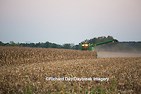 63801-07007 Farmer harvesting corn, Marion Co., IL