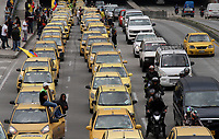 BOGOTA -COLOMBIA , 10- MAYO-2017.Paro de taxistas . Photo: VizzorImage / Felipe Caicedo / Staff