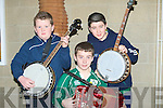 BANJOS: Colm Stack (Listowel), Mikey Dillane and Ciara?n O'Sullivan (Gneeveguilla) playing to their hearts content in the Ceoilan Cheimhribh Competition in ITT North Campus,Tralee on Saturday....