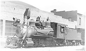 3/4 fireman's-side view of C&amp;S #65 at Idaho Springs.<br /> C&amp;S  Idaho Springs, CO  Taken by Payne, Andy M. - 7/22/1938