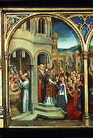 Paintings:  Hans Memling--Ursula shrine before 1489, Rome.  Reference only.