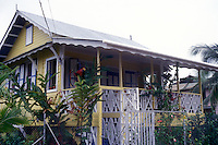 Restored wooden Caribbean style house in Bocos del Toro, Isla Colon, Panama, Central America