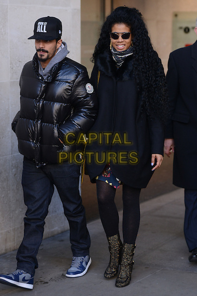 LONDON , ENGLAND - FEBRUARY 24 ; Kelis leaving BBC Radio 1 London , England, on Monday, February 24th, 2014. <br /> CAP/IA<br /> &copy;Ian Allis/Capital Pictures