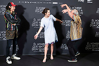 Oscar Jaenada, Joana Ribeiro and British director Terry Gilliam attends to presentation of 'El hombre que mato a Don Quijote' (The man who killed Don Quixote) at NH Eurobuilding Hotel in Madrid, Spain. May 29, 2018. (ALTERPHOTOS/Borja B.Hojas) /NortePhoto.com
