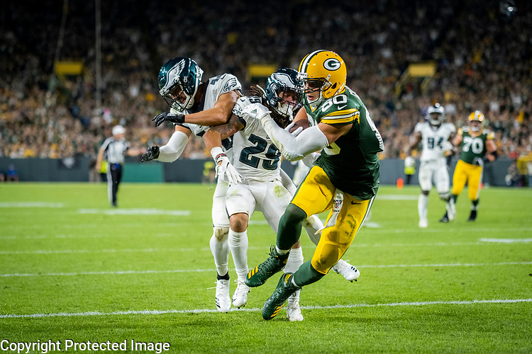 Green Bay Packers against the Philadelphia Eagles during a regular season game at Lambeau Field in Green Bay on Thursday, September 26, 2019.