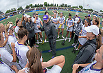 STONY BROOK, NY - MAY 27: Head coach <br /> Shelley Klaes-Bawcombe of the James Madison Dukes during the Division I Women's Lacrosse Championship held at Kenneth P. LaValle Stadium on May 27, 2018 in Stony Brook, New York. (Photo by Ben Solomon/NCAA Photos via Getty Images)