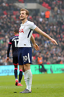 Harry Kane of Tottenham Hotspur is frustrated after missing a chance during Tottenham Hotspur vs Huddersfield Town, Premier League Football at Wembley Stadium on 3rd March 2018