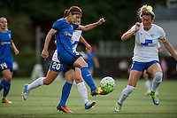Seattle, Washington - Saturday, July 2nd, 2016: Seattle Reign FC forward Nahomi Kawasumi (36) takes a shot on goal during a regular season National Women's Soccer League (NWSL) match between the Seattle Reign FC and the Boston Breakers at Memorial Stadium. Seattle won 2-0.