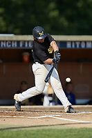 Scott Meitzler (25) (NC A&T) of the Statesville Owls at bat against the High Point-Thomasville HiToms at Finch Field on July 19, 2020 in Thomasville, NC. The HiToms defeated the Owls 21-0. (Brian Westerholt/Four Seam Images)