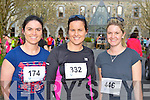 Norma Foley, Sneem, Deirdre Miles Kenmare and Katie Lynch Kenmare at the Feet First 5km in Killarney on Friday
