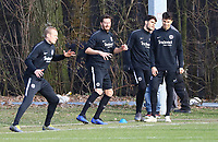 Sebastian Rode (Eintracht Frankfurt), David Abraham (Eintracht Frankfurt), Lucas Torro (Eintracht Frankfurt), Goncalo Paciencia (Eintracht Frankfurt) - 20.02.2019: Eintracht Frankfurt Training, UEFA Europa League, Commerzbank Arena, DISCLAIMER: DFL regulations prohibit any use of photographs as image sequences and/or quasi-video.