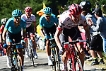 The large breakaway group during Stage 15 of the 2018 Tour de France running 181.5km from Millau to Carcassonne, France. 22nd July 2018. <br /> Picture: ASO/Alex Broadway | Cyclefile<br /> All photos usage must carry mandatory copyright credit (&copy; Cyclefile | ASO/Alex Broadway)