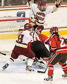 Kate Leary (BC - 28), Taylor Wasylk (BC - 9) - The Boston College Eagles defeated the visiting St. Lawrence University Saints 6-3 (EN) in their NCAA Quarterfinal match on Saturday, March 10, 2012, at Kelley Rink in Conte Forum in Chestnut Hill, Massachusetts.
