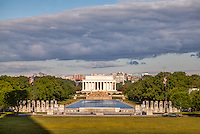 Lincoln Memorial and WWII Memorial Washington DC<br /> Washington DC Photography