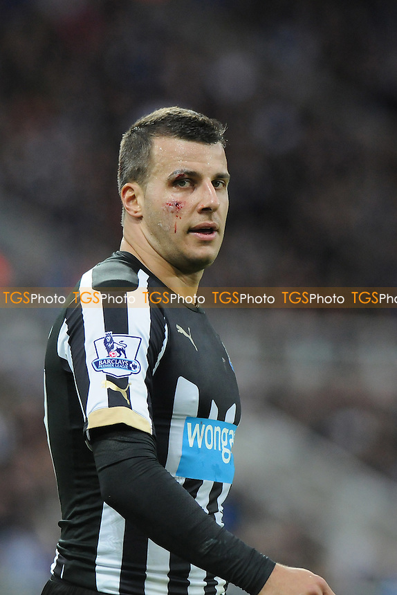 A patched up Steven Taylor of Newcastle United - Newcastle United vs Sunderland AFC - Barclays Premier League Football at St James Park, Newcastle upon Tyne - 21/12/14 - MANDATORY CREDIT: Steven White/TGSPHOTO - Self billing applies where appropriate - contact@tgsphoto.co.uk - NO UNPAID USE