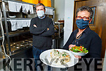 Aileen Assad and Padraig Kerins getting ready in Gally's Restaurant for deliveries on Monday.