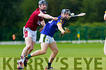 Dylan Burke Causeway gets the hurley to knock the ball away from Colin Sheehy Lixnaw during the County U21 Hurling championship SF played in Lixnaw on Sunday