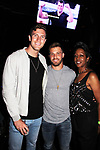 Corey Brooks - Paulie Calafiore - Monica Bailey at Big Brother 19 premiere on June 28, 2017 at Slate, New York City, New York. (Photo by Sue Coflin/Max Photos)