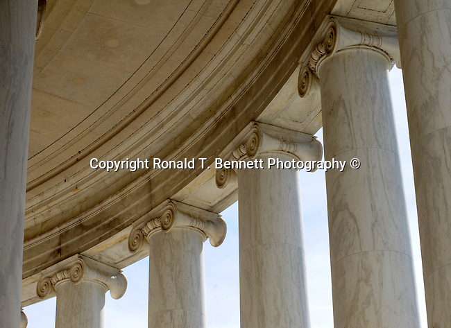 The Thomas Jefferson Memorial pillars Washington D.C.,The Thomas Jefferson Memorial, Jefferson memorial, Presidential Memorial in Washington DC, Thomas Jefferson, American founding Father, Third President of the United States, neoclassical, Designed by John Russell Pope, Philadelphia, done, portico, Tidal, Basin, Potomac River, West Potomac Park, Washington monument, National Mall and Memorial Parks, List of America's Favorite Architecture, American Institute of Architects, U.S. National Register of Historic Places, U.S. National Memorial, Washington D.C., Ron Bennett Photography, Stock Photography, Fine Art Photography, Fine Art Photography by Ron Bennett, Fine Art, Fine Art photo, Art Photography,