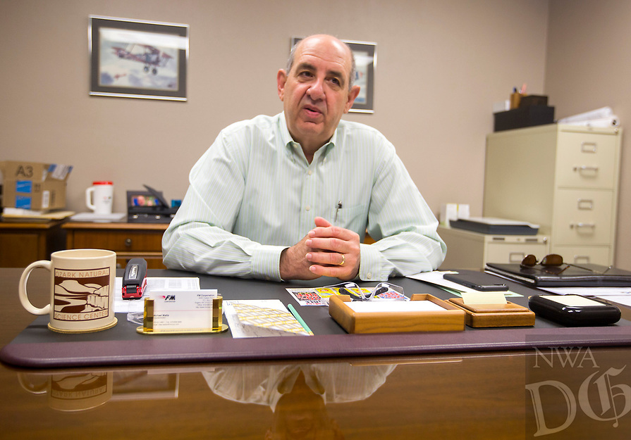 NWA Democrat-Gazette/JASON IVESTER<br /> Michael Watts, chief executive officer, speaks Wednesday, May 10, 2017, in his office at FM Corporation in Rogers.