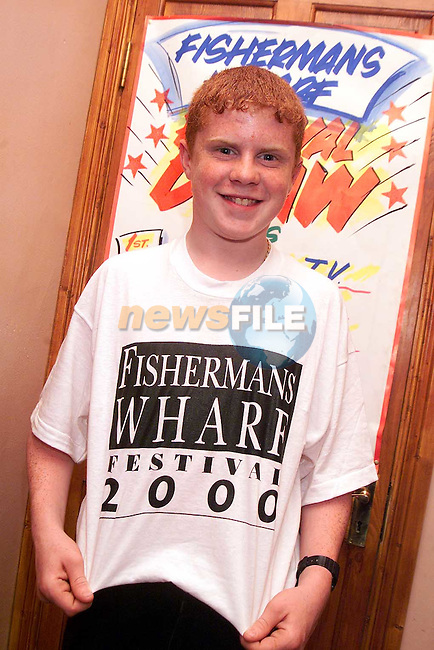 Blaine Feeley from Phillipstown, Dunleer at the Fisherman's Wharf Festival..Picture Paul Mohan Newsfile