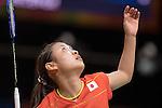 Nozomi Okuhara (JPN), AUGUST 12, 2016 - Badminton : Nozomi Okuhara of Japan in action during the Rio 2016 Olympic Gamges Badminton Women's Singles Group J match at Riocentro Pavilion 4 in Rio de Janeiro, Brazil. (Photo by Enrico Calderoni/AFLO SPORT)