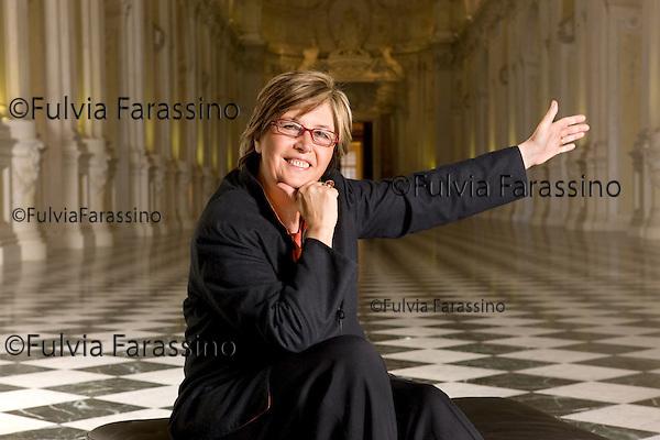 """Turin, 16/02/2009, Reggia di Venaria Galleria Grande detta di """"Diana"""" .Mercedes Bresso"""