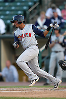 Toledo Mudhens shortstop Argenis Diaz #11 during a game against the Empire State Yankees at Frontier Field on May 30, 2012 in Rochester, New York.  Empire State defeated Toledo 5-2.  (Mike Janes/Four Seam Images)