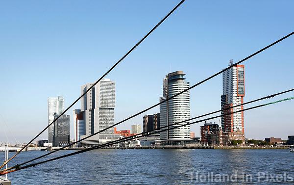 Nederland Rotterdam - 2017. De Maas. Hoogbouw op de Wilhelminapier.  Foto Berlinda van Dam / Hollandse Hoogte